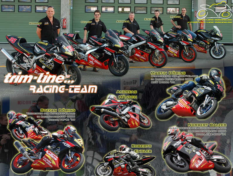 Das trim-line-racing-Team